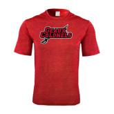 Performance Red Heather Contender Tee-Geaux Colonels-Sword