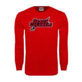 Red Long Sleeve T Shirt-Geaux Colonels-Sword