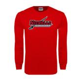 Red Long Sleeve T Shirt-Nicholls Colonels-Sword