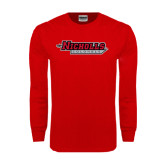 Red Long Sleeve T Shirt-Nicholls Colonels