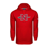 State Under Armour Red Performance Sweats Team Hood-N-Sword