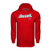 Under Armour Red Performance Sweats Team Hood-Baseball Script