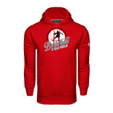 Under Armour Red Performance Sweats Team Hoodie-Basketball w/ Ball and Figure