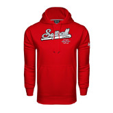 Under Armour Red Performance Sweats Team Hood-Softball Script