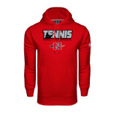 Under Armour Red Performance Sweats Team Hoodie-Tennis w/ Player