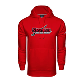 State Under Armour Red Performance Sweats Team Hood-Nicholls Colonels-Sword