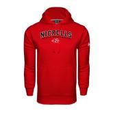Under Armour Red Performance Sweats Team Hoodie-Nicholls University