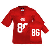 Youth Replica Red Football Jersey-#86