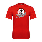 Syntrel Performance Red Tee-Basketball w/ Ball and Figure