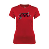 Ladies Syntrel Performance Red Tee-Geaux Colonels-Sword