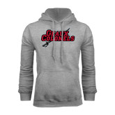 Grey Fleece Hood-Geaux Colonels-Sword