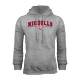 Grey Fleece Hood-Nicholls University