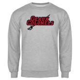 Grey Fleece Crew-Geaux Colonels-Sword