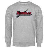 Grey Fleece Crew-Nicholls Colonels-Sword