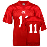 State Replica Red Adult Football Jersey-#11