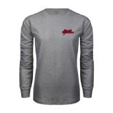 Grey Long Sleeve T Shirt-Geaux Colonels-Sword