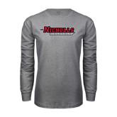 Grey Long Sleeve T Shirt-Nicholls Colonels