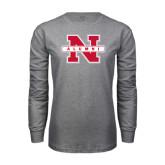 Grey Long Sleeve T Shirt-Alumni N