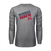 Grey Long Sleeve T Shirt-Renew Slanted