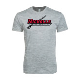 Next Level SoftStyle Heather Grey T Shirt-Nicholls Colonels-Sword