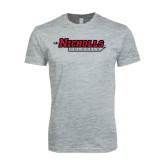 Next Level SoftStyle Heather Grey T Shirt-Nicholls Colonels