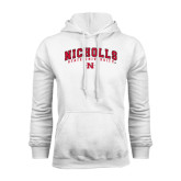 White Fleece Hood-Nicholls University
