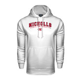 Under Armour White Performance Sweats Team Hood-Nicholls University