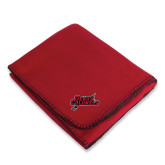 Red Arctic Fleece Blanket-Geaux Colonels-Sword