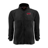 Fleece Full Zip Black Jacket-Geaux Colonels-Sword