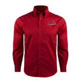 Red House Red Long Sleeve Shirt-Nicholls Colonels-Sword