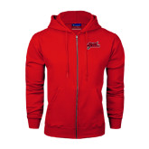 Champion Red Fleece Full Zip Hood-Geaux Colonels-Sword