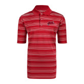 Adidas Climalite Red Textured Stripe Polo-Geaux Colonels-Sword