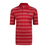 Adidas Climalite Red Textured Stripe Polo-Nicholls Colonels-Sword