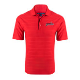 Red Horizontal Textured Polo-Nicholls Colonels-Sword