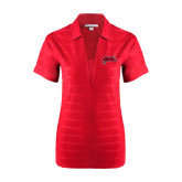 Ladies Red Horizontal Textured Polo-Geaux Colonels-Sword