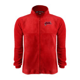 Fleece Full Zip Red Jacket-Geaux Colonels-Sword