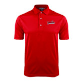 Red Dry Mesh Polo-Nicholls Colonels-Sword