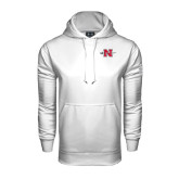 Under Armour White Performance Sweats Team Hood-Official Logo
