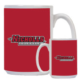 Full Color White Mug 15oz-Nicholls Colonels