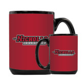 Full Color Black Mug 15oz-Nicholls Colonels