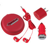 3 in 1 Red Audio Travel Kit-Nicholls Colonels