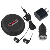 3 in 1 Black Audio Travel Kit-Nicholls Colonels