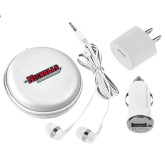 3 in 1 White Audio Travel Kit-Nicholls Colonels