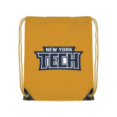 Gold Drawstring Backpack-New York Tech