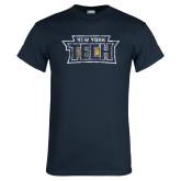 Navy T Shirt-New York Tech Distressed
