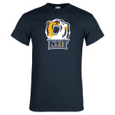 Navy T Shirt-NYIT Bear Head
