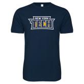 Next Level SoftStyle Navy T Shirt-New York Tech