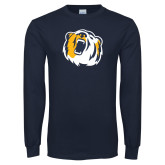 Navy Long Sleeve T Shirt-Bear Head