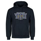 Navy Fleece Hoodie-Lacrosse New York Tech