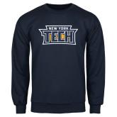 Navy Fleece Crew-New York Tech